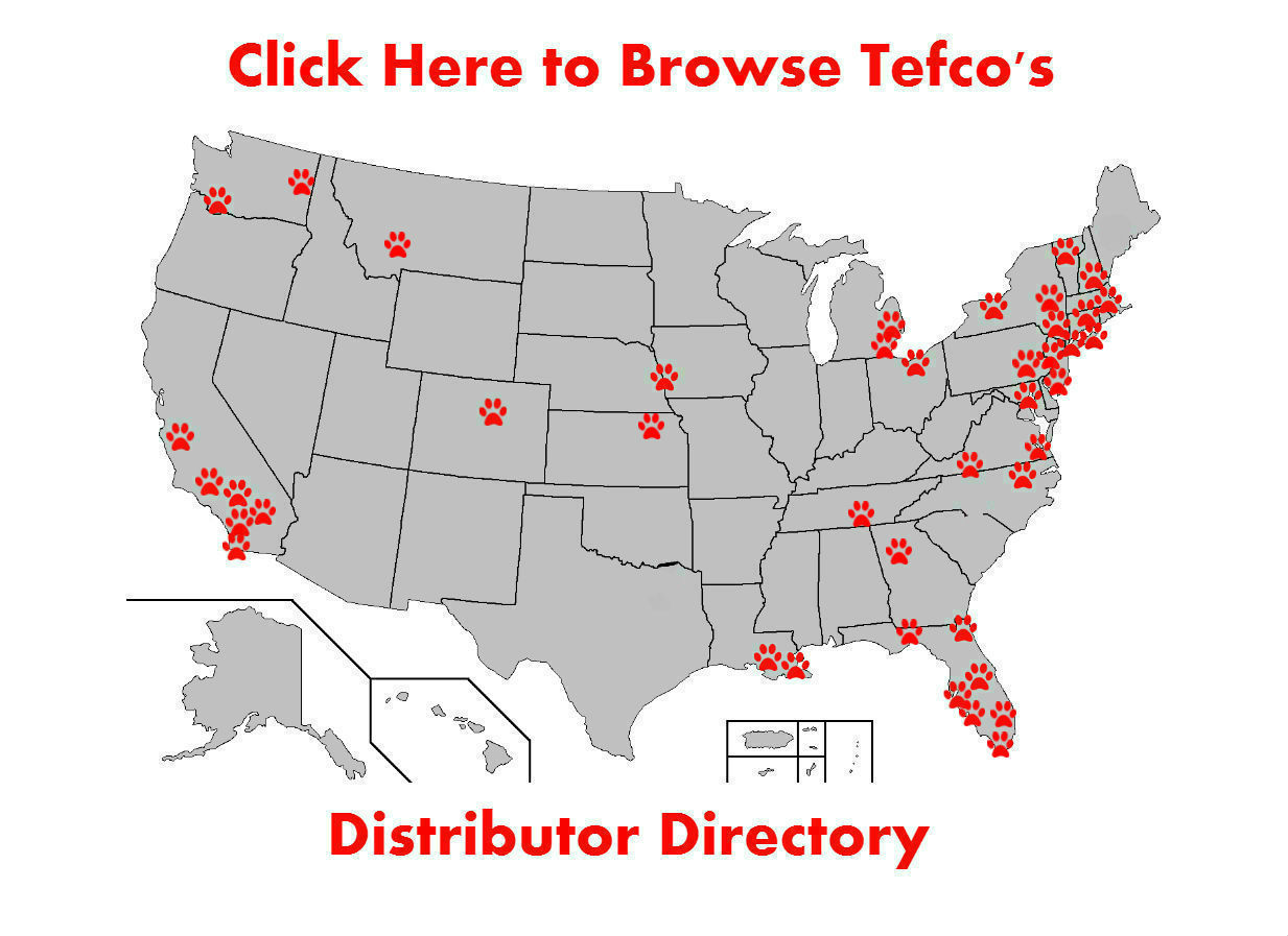Tefco Paleo Diet Dog Food Distributor Map United States