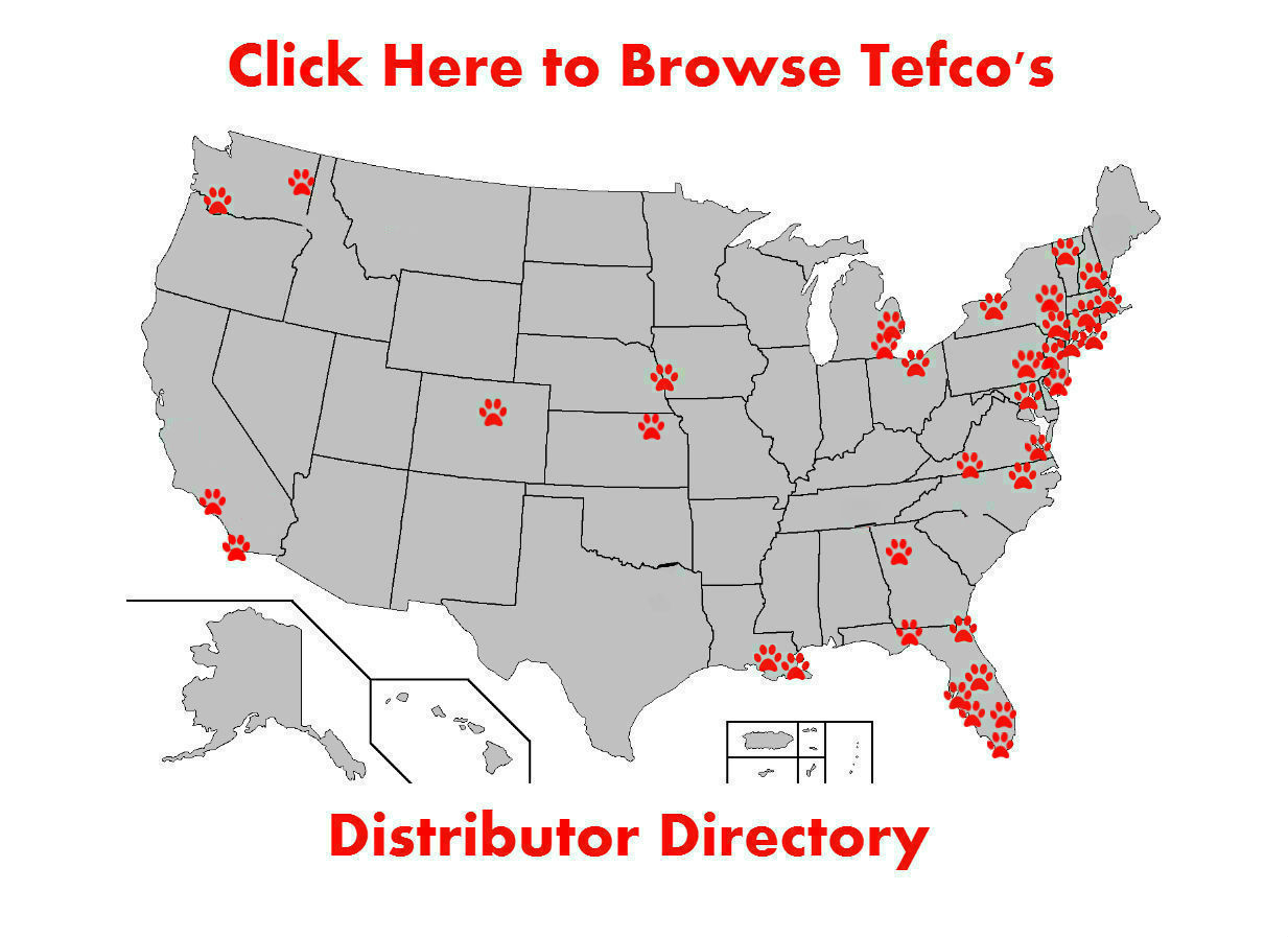 Tefco Paleo Diet Dog Food Distributor Map United States